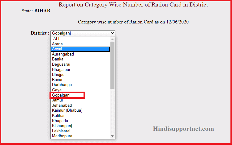 Bihar Ration Card List 2