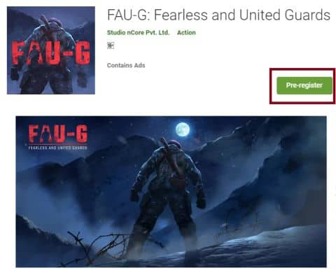 Fou-g Game Pre-Registration