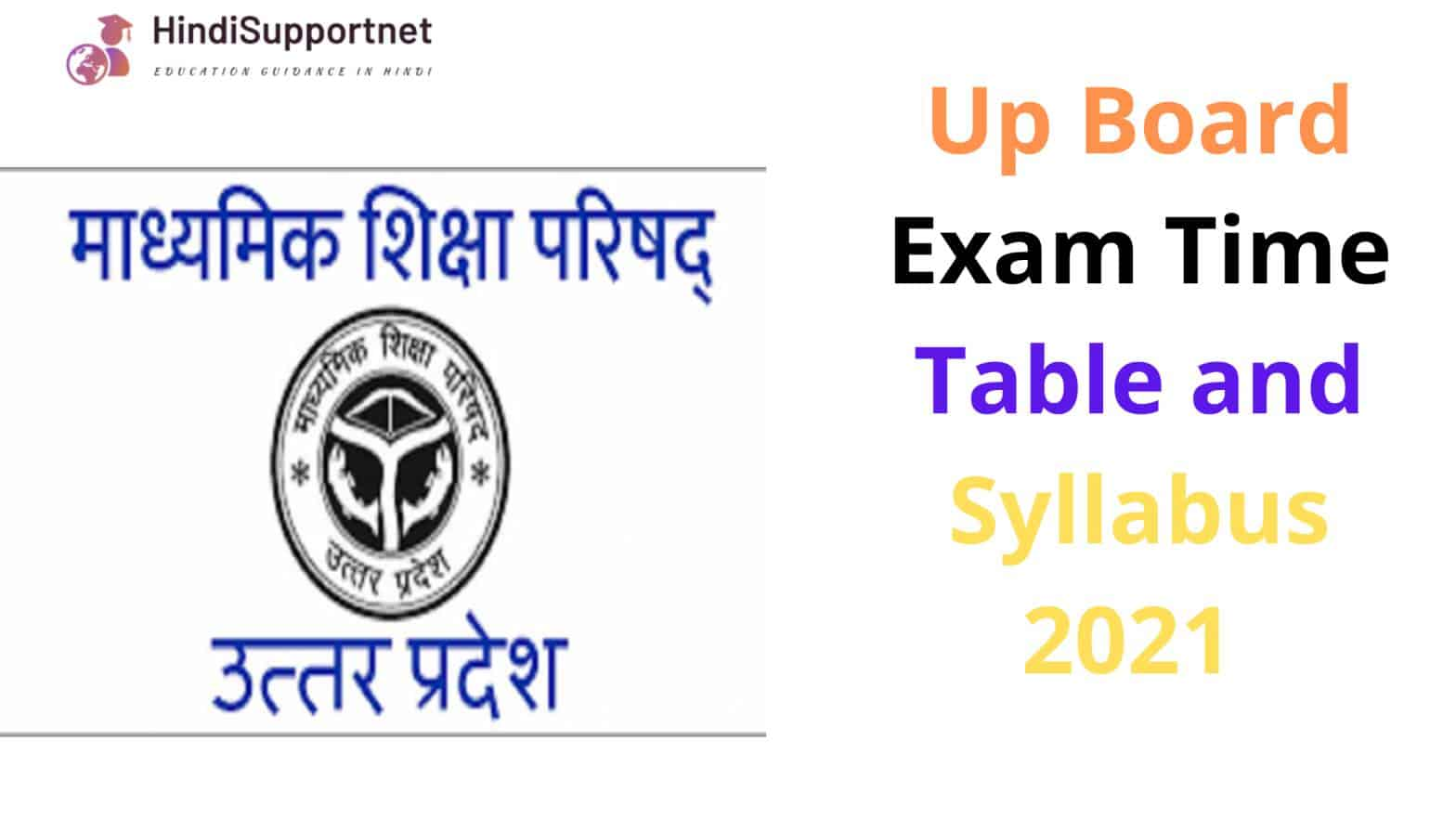 Up Board Time Table